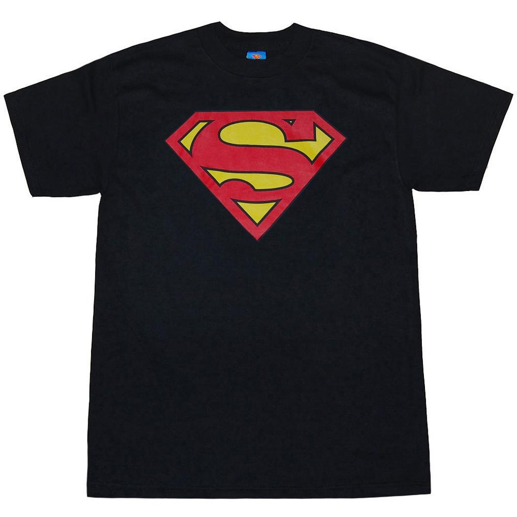 superman symbol black t