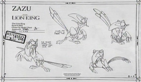 Character sheets © The Lion King