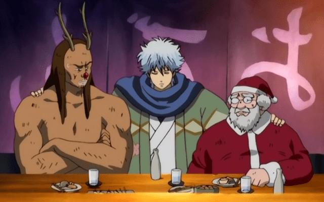 Vreemde anime kerstmannen in Gintama