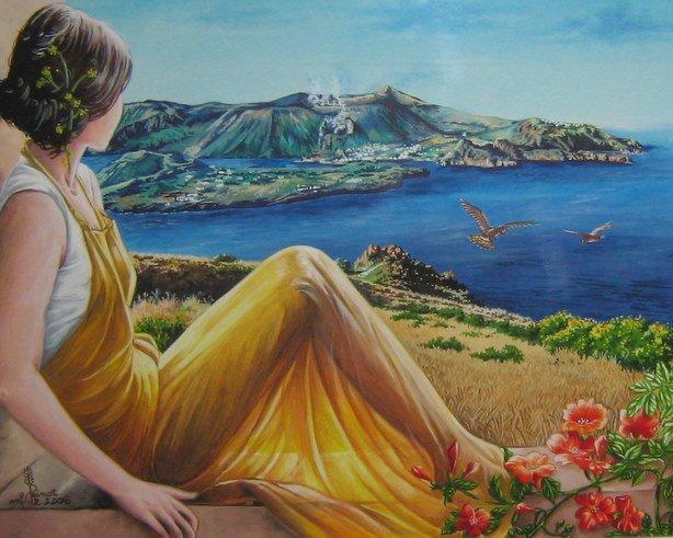 Dipinti Paesaggi Primaverili YI68  Regardsdefemmes