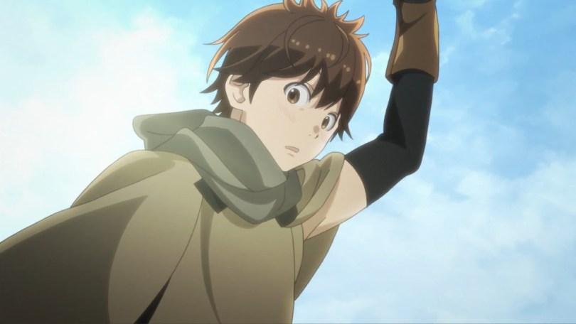 Haruhiro looks down and blushes slightly.