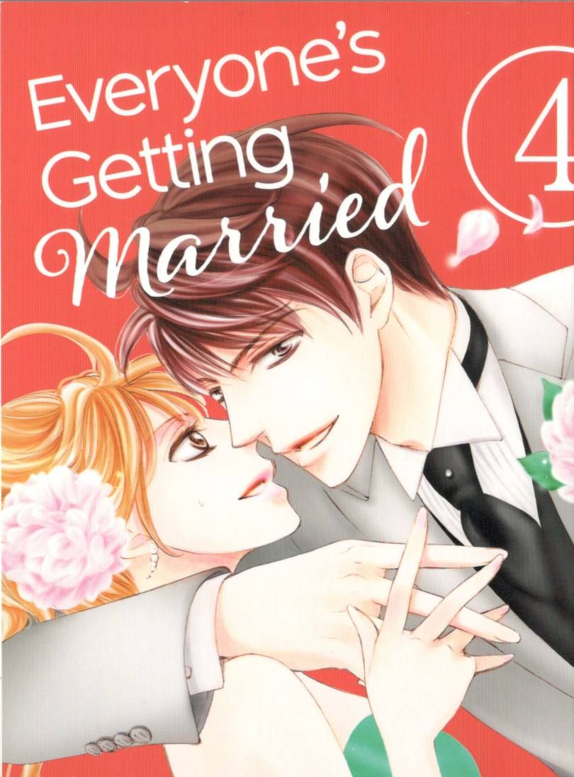 Everybody's Getting Married Vol. 4 cover: Close up of a man in a suit with his arm around a woman in a green dress