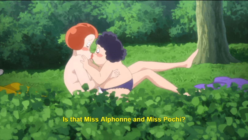 Two naked teachers having sex. caption: Is that Miss Alphonne and Miss Pochi