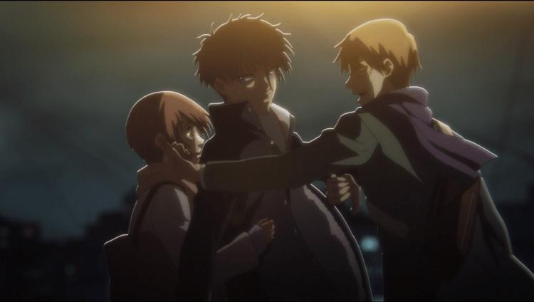 Anzai stepping between Tsukasa and Akimura