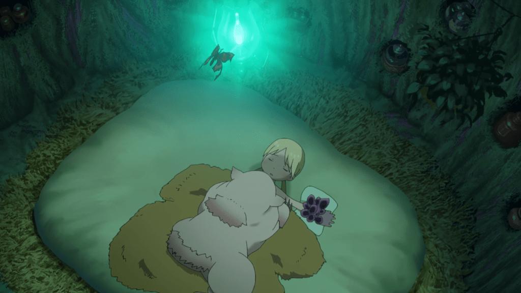 Mitty lying on top of a sleeping Riko