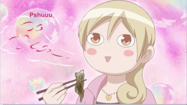 anime Wakako making a 'pshuu' sound