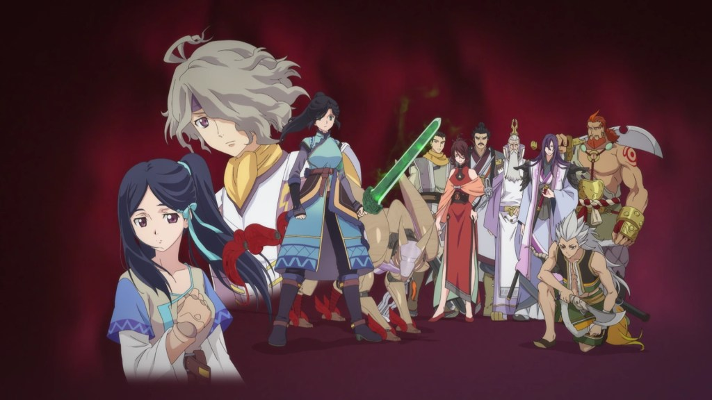 A lineup of over ten characters in the show