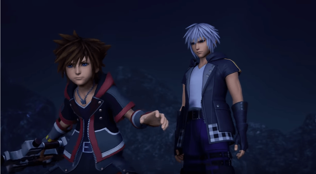 Sora and Riku in Kingdom Hearts 3