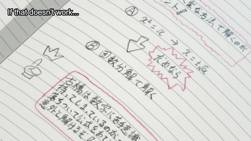 A page from a notebook filled with Japanese text. Subtitle: If that doesn't work...