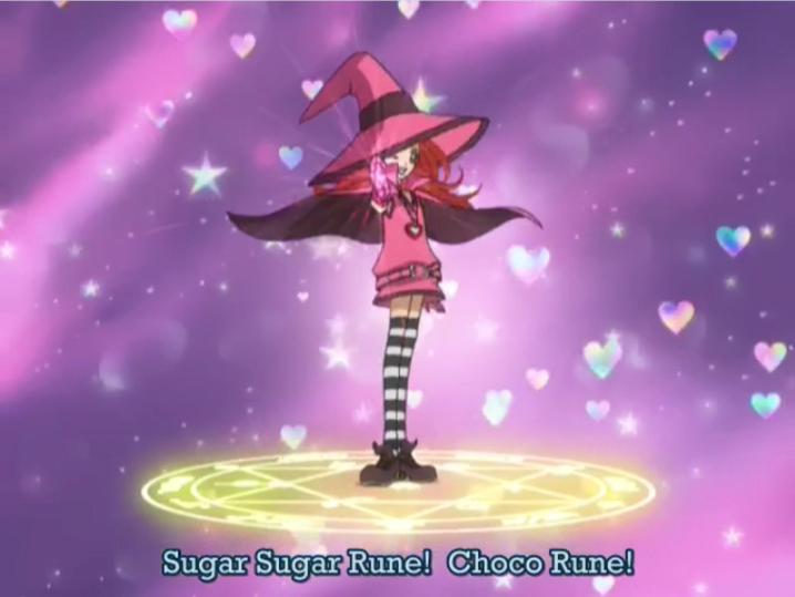 the transformation circle from Sugar Sugar Rune