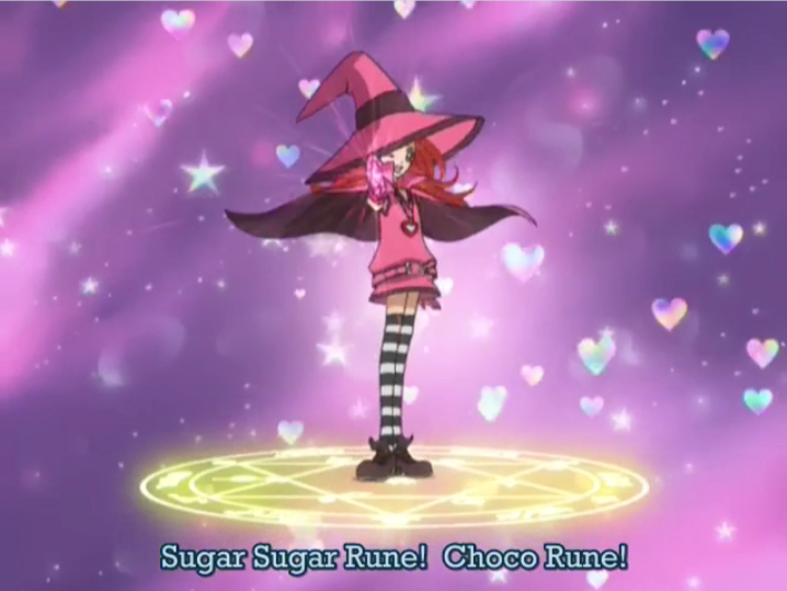 the transformation circle from Sugar Sugar Rune