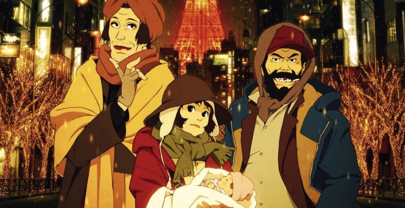 The three leads of Tokyo Godfathers