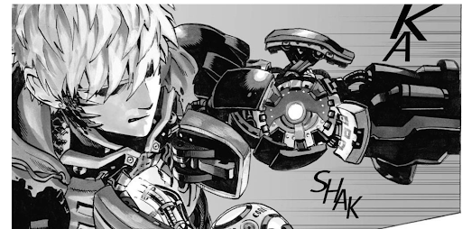 manga panel of Genos