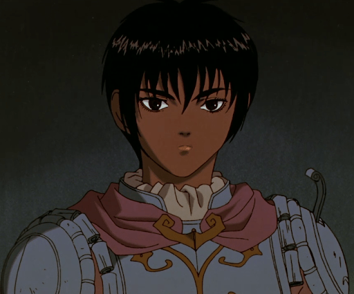 mid-shot of Casca in armor