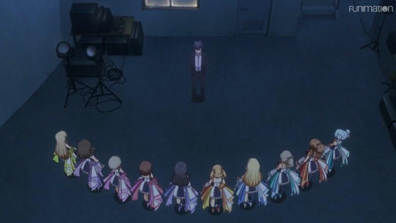 Meet the ten idols under Hoshino Production: Kotono, Sakura, Rei, Nagisa, Suzu, Saki, Chisa, Shizuku, Haruko, and Mei.