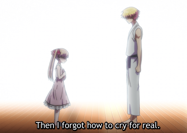 Dr. Ramune listens to Koto's problems and sees her crying out for help.