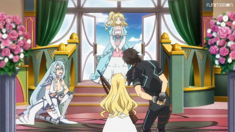 Agent Six and Alice meet the Princess of Grace Kingdom. the