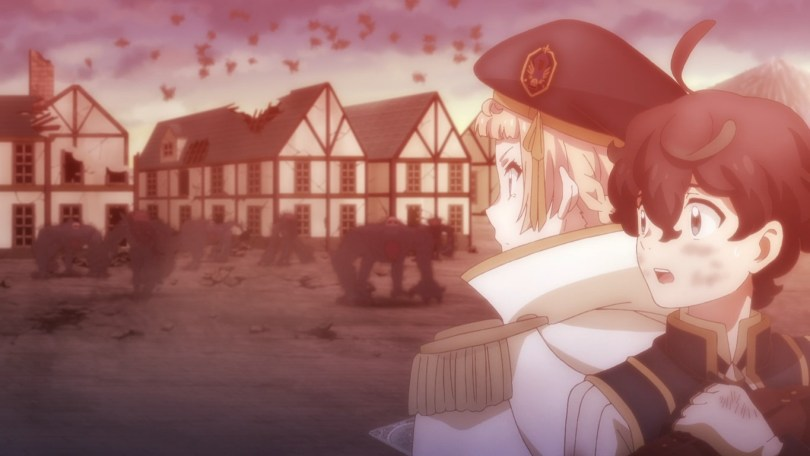 Military school student Nemo backs into Faria as he tries to escape the battlefield.