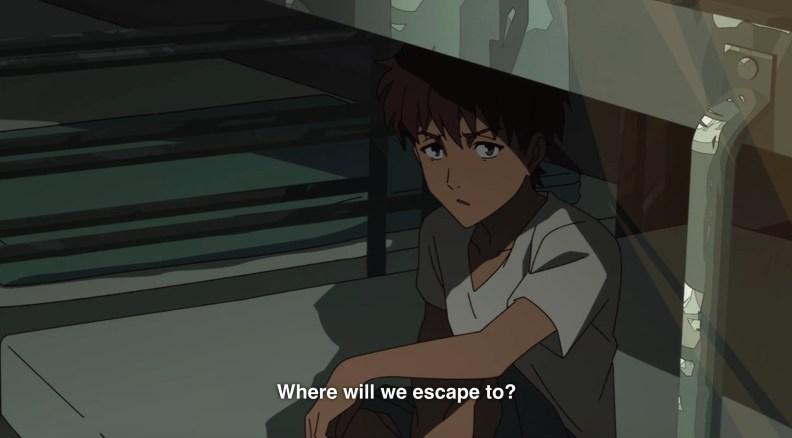 Kawin telling Makoto the reality about human trafficking.