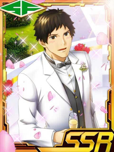 Goto wearing a white tuxedo