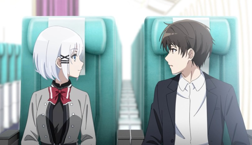 Siesta and Kimihiko meeting for the first time on a plane.