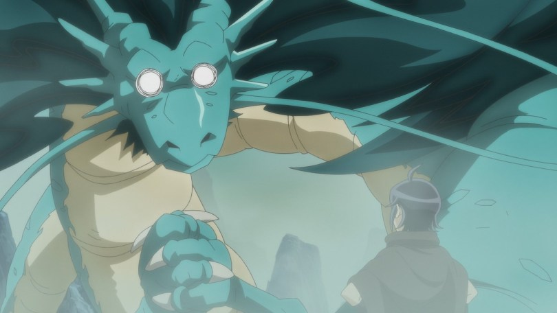 A dragon bargins with Makoto after seeing his memories from his previous life.