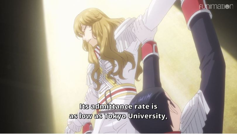 an actress as Lady Oscar. subtitle: Its admittance rate is as low as Tokyo University