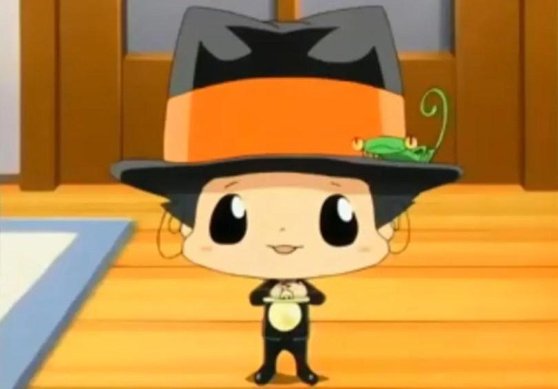 a tiny chibi in a mafia suit -- reborn