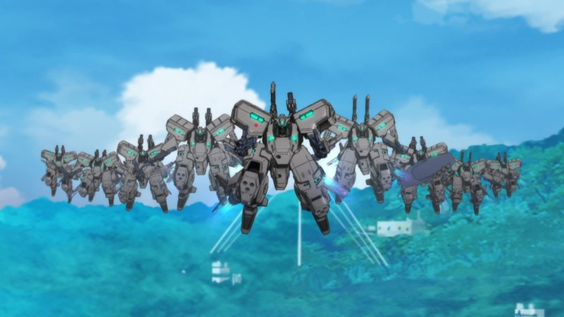 The Tactical Surface Fighter take to the air to fight off a new wave of BETA invaders.