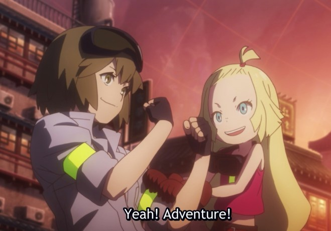 Memempu with her friend excited to go on an adventure