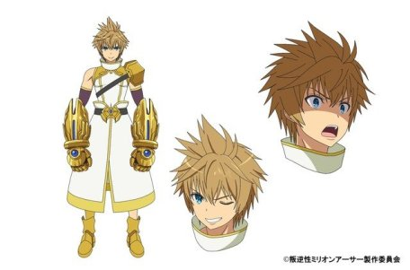 Han-Gyaku-Sei Million Arthur Character Visual - Tekken Arthur