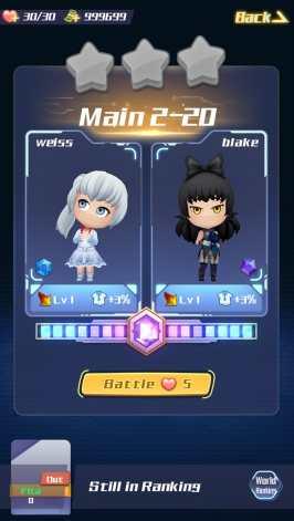RWBY Crystal Quest Screenshot