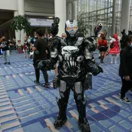 Photo of a cosplayer at Otakon 2021 dressed as War Machine