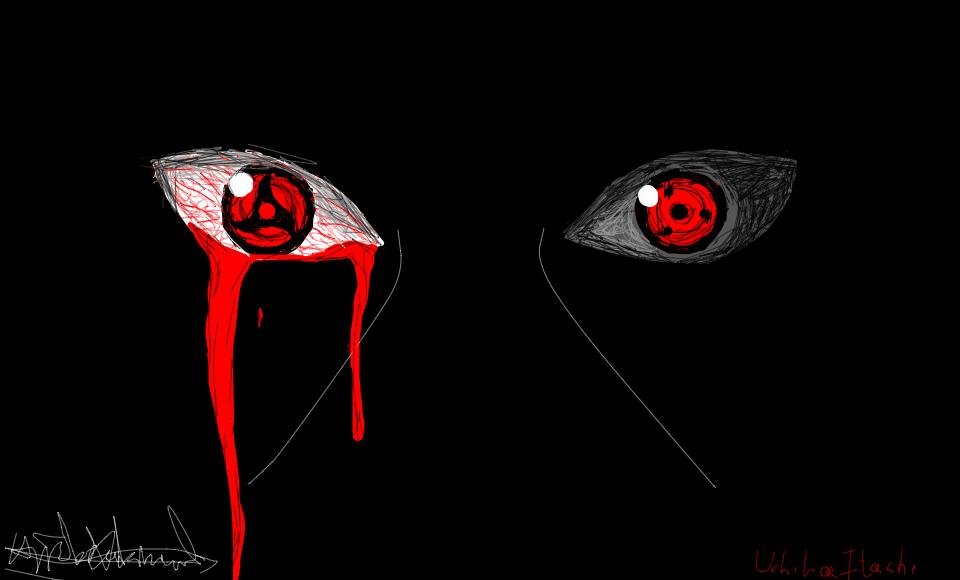 itachi uchiha bleeding eyes
