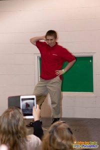 The catwalk winner, Jake, from State Farm.