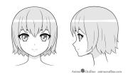 draw anime girl's head