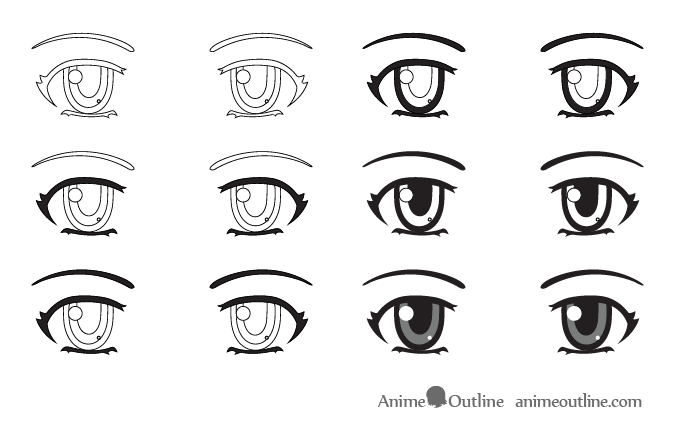 How to Draw Anime Eyes and Eye Expressions Tutorial