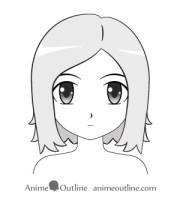 draw anime and manga hair