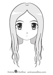 draw anime and manga hair