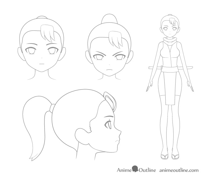 4 Important Steps to Draw a Manga or Anime Character