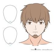 draw anime facial hair beards
