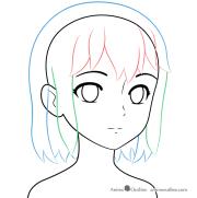 draw anime school girl