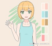 color anime character