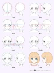 draw cute anime girl step