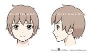 draw anime boy full body