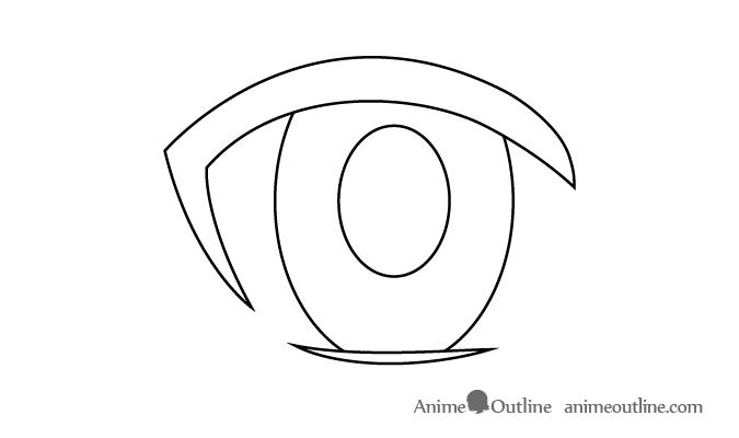 Female anime eye pupil