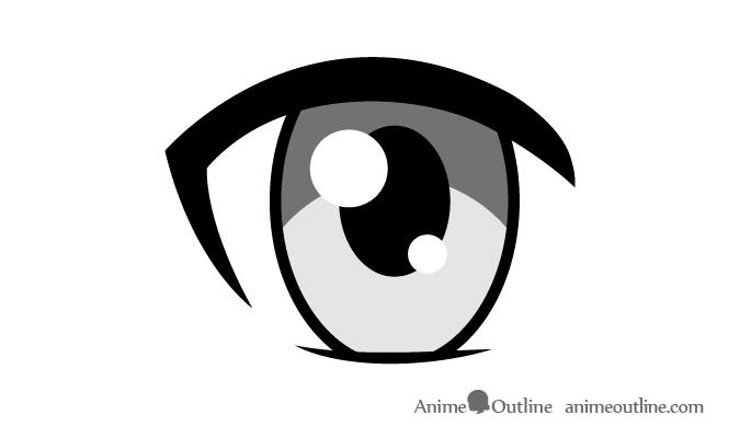 Female anime eye shading