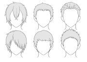 draw anime male hair step
