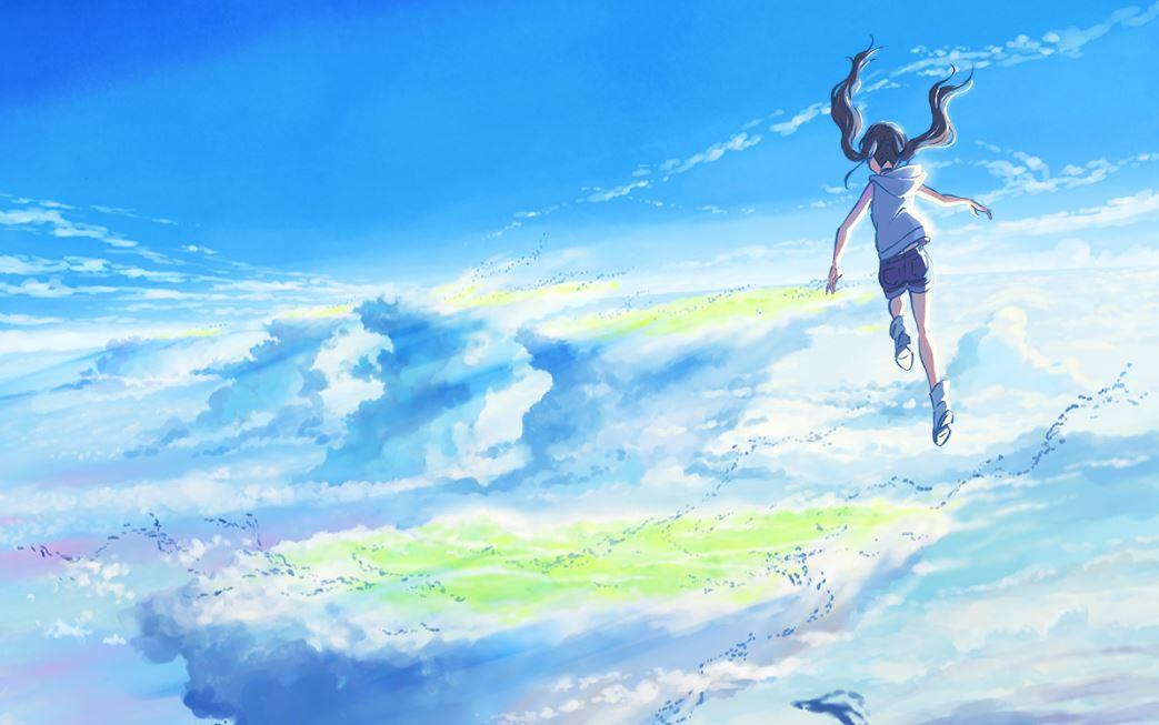 Key visual of Makoto Shinkai's new anime film, Tenki no ko