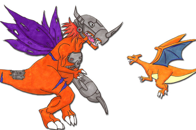 Mega Charizard X Wallpaper Iphone Digimon Vs Pokemon 15 Anime Wallpaper Animewp Com